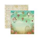 Marion Smith Designs - Junque Gypsy Collection - 12 x 12 Double Sided Paper - Carpe Diem