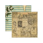Marion Smith Designs - Junque Gypsy Collection - 12 x 12 Double Sided Paper - Carte Blanche