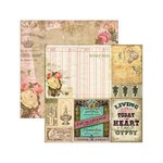 Marion Smith Designs - Junque Gypsy Collection - 12 x 12 Double Sided Paper - Doice Vita