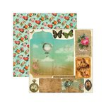 Marion Smith Designs - Junque Gypsy Collection - 12 x 12 Double Sided Paper - Faux Pas