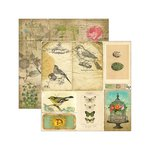 Marion Smith Designs - Junque Gypsy Collection - 12 x 12 Double Sided Paper - Sans Souci