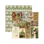 Marion Smith Designs - Junque Gypsy Collection - 12 x 12 Double Sided Paper - Belle Vie