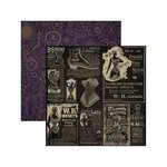 Marion Smith Designs - Time Keeper Collection - 12 x 12 Double Sided Paper - Art Nouveau