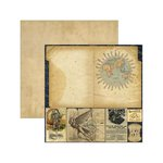Marion Smith Designs - Time Keeper Collection - 12 x 12 Double Sided Paper - Portfolio