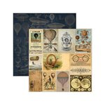 Marion Smith Designs - Time Keeper Collection - 12 x 12 Double Sided Paper - Exploratorium