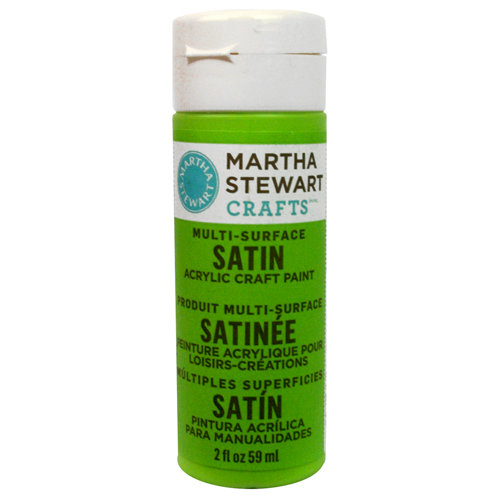 Martha Stewart Crafts - Paint - Satin Finish - Green Curry - 2 Ounces