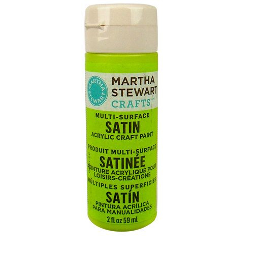 Martha Stewart Crafts - Paint - Satin Finish - Granny Smith - 2 Ounces