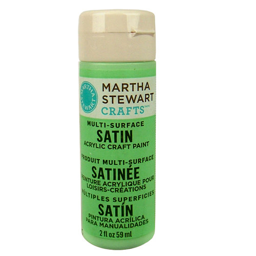 Martha Stewart Crafts - Paint - Satin Finish - Pea Shoot - 2 Ounces