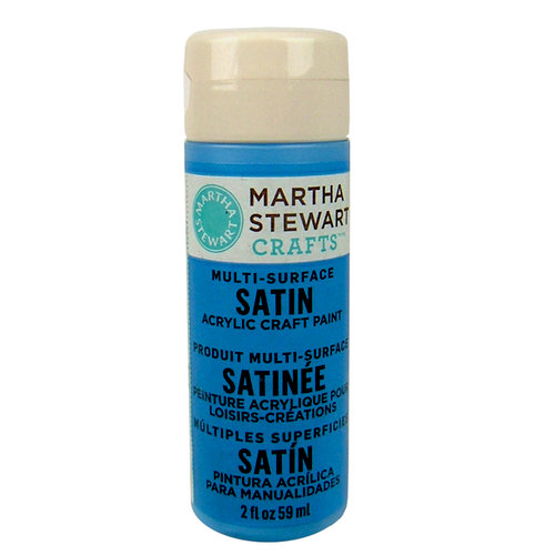 Martha Stewart Crafts - Paint - Satin Finish - Blue Calico - 2 Ounces
