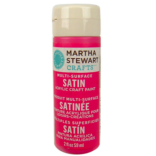 Martha Stewart Crafts - Paint - Satin Finish - Amaranth - 2 Ounces
