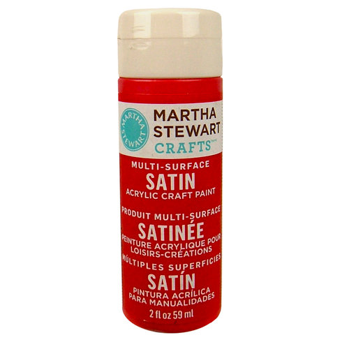 Martha Stewart Crafts - Paint - Satin Finish - Habanero - 2 Ounces