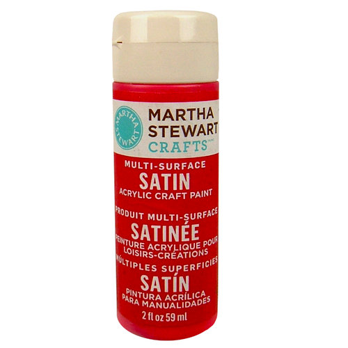 Martha Stewart Crafts - Paint - Satin Finish - Goji Berry - 2 Ounces