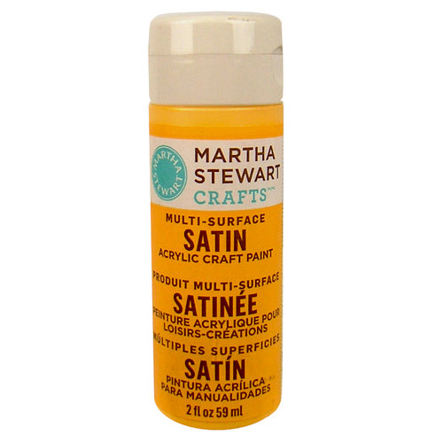 Martha Stewart Crafts - Paint - Satin Finish - Cantaloupe - 2 Ounces