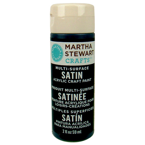 Martha Stewart Crafts - Paint - Satin Finish - Deep Sea - 2 Ounces
