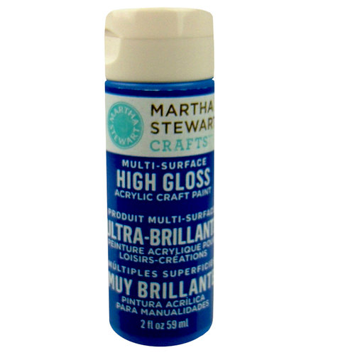 Martha Stewart Crafts - Paint - High Gloss Finish - Indigo - 2 Ounces