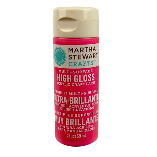 Martha Stewart Crafts - Paint - High Gloss Finish - Amaranth - 2 Ounces