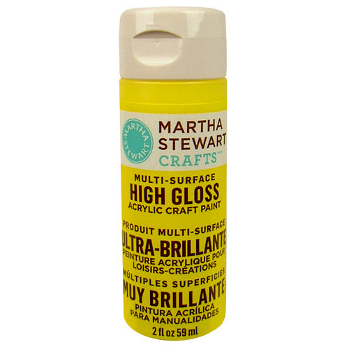 Martha Stewart Crafts - Paint - High Gloss Finish - Chamomile - 2 Ounces