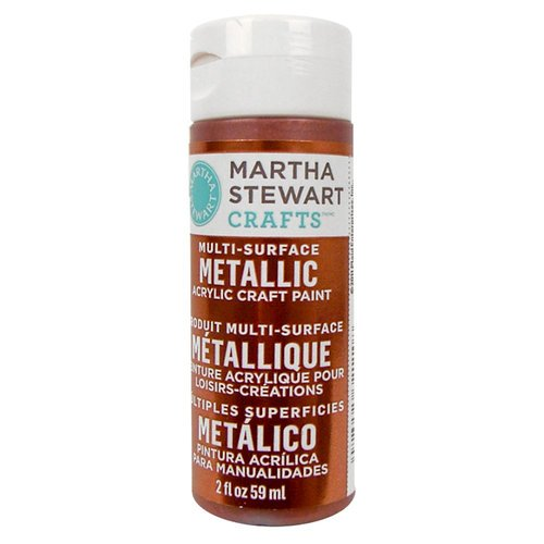 Martha Stewart Crafts - Paint - Metallic Finish - Rust - 2 Ounces