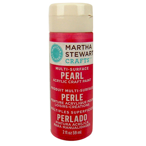 Martha Stewart Crafts - Paint - Pearl Finish - Fruit Punch - 2 Ounces