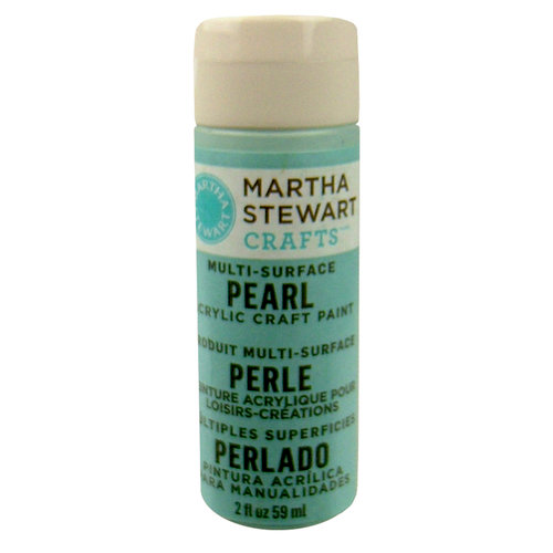 Martha Stewart Crafts - Paint - Pearl Finish - Jet Stream - 2 Ounces