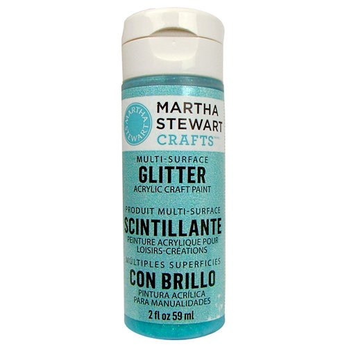 Martha Stewart Crafts - Paint - Glitter Finish - Blueberry Slush - 2 Ounces