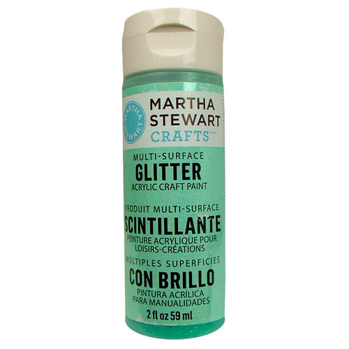 Martha Stewart Crafts - Paint - Glitter Finish - Wintermint - 2 Ounces