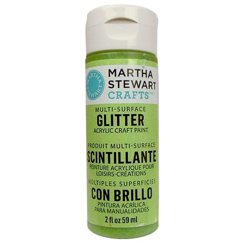 Martha Stewart Crafts - Paint - Glitter Finish - Limeade - 2 Ounces