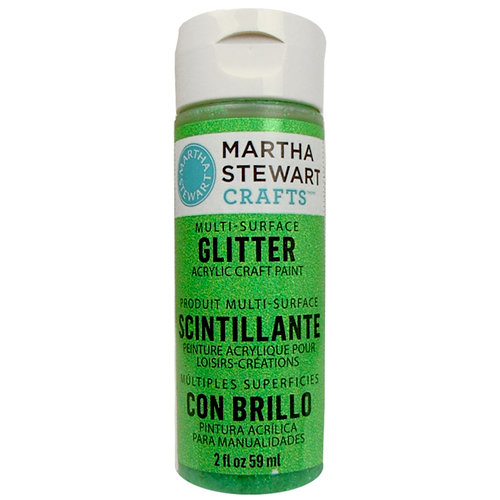 Martha Stewart Crafts - Paint - Glitter Finish - Sour Apple - 2 Ounces