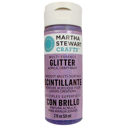 Martha Stewart Crafts - Paint - Glitter Finish - Sugar Plum - 2 Ounces