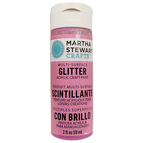 Martha Stewart Crafts - Paint - Glitter Finish - Bubble Gum - 2 Ounces