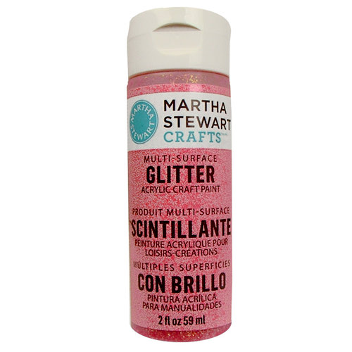 Martha Stewart Crafts - Paint - Glitter Finish - Candy Apple - 2 Ounces