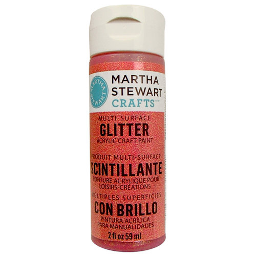 Martha Stewart Crafts - Paint - Glitter Finish - Cherry Cola - 2 Ounces