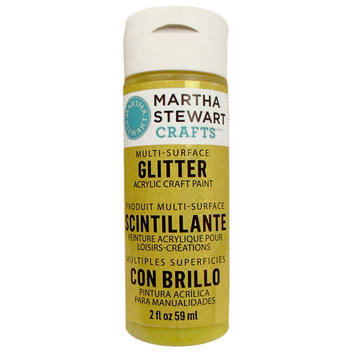 Martha Stewart Crafts - Paint - Glitter Finish - Lemon Drop - 2 Ounces
