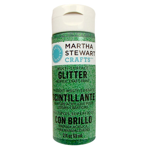 Martha Stewart Crafts - Paint - Glitter Finish - Verdelite - 2 Ounces