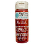 Martha Stewart Crafts - Paint - Glitter Finish - Garnet - 2 Ounces