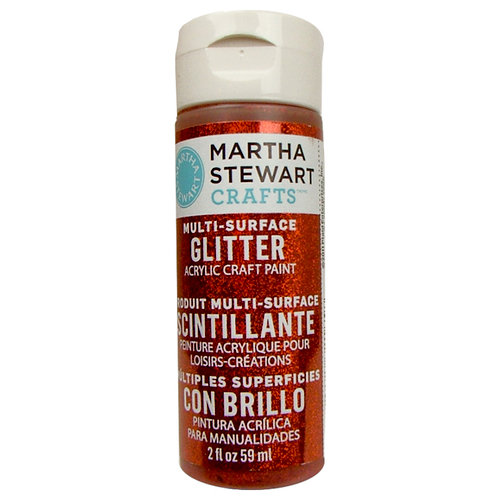 Martha Stewart Crafts - Paint - Glitter Finish - Carnelian - 2 Ounces