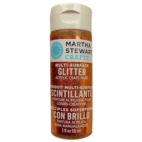 Martha Stewart Crafts - Paint - Glitter Finish - Fire Opal - 2 Ounces