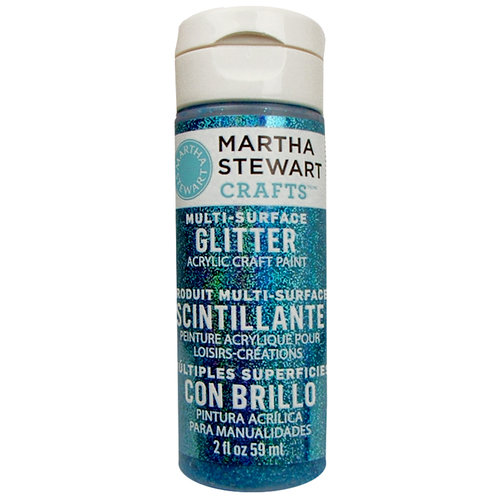 Martha Stewart Crafts - Paint - Glitter Finish - Lapis Lazuli - 2 Ounces