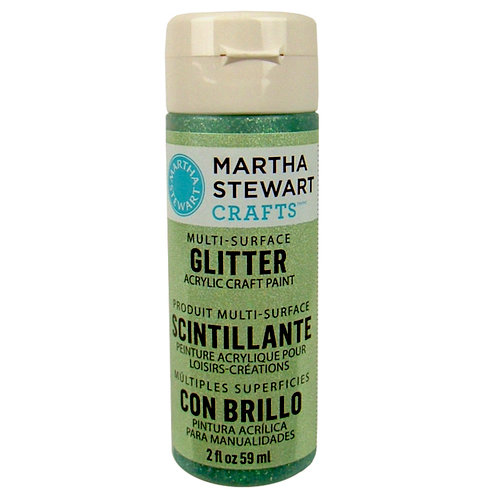 Martha Stewart Crafts - Paint - Glitter Finish - Aquamarine Crystal - 2 Ounces