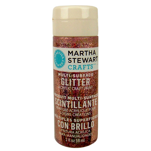 Martha Stewart Crafts - Paint - Glitter Finish - Rose Quartz - 2 Ounces