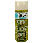 Martha Stewart Crafts - Paint - Glitter Finish - Yellow Barite - 2 Ounces