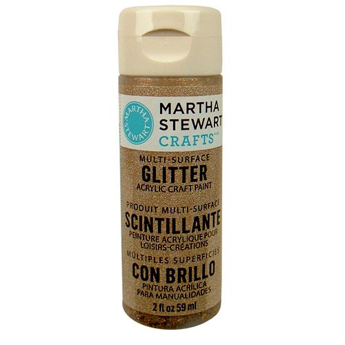 Martha Stewart Crafts - Paint - Glitter Finish - Smoky Quartz - 2 Ounces