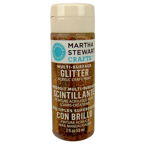 Martha Stewart Crafts - Paint - Glitter Finish - Sunstone - 2 Ounces