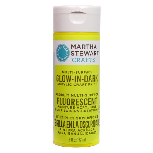 Martha Stewart Crafts - Paint - Glow in Dark Finish - Yellow - 6 Ounces