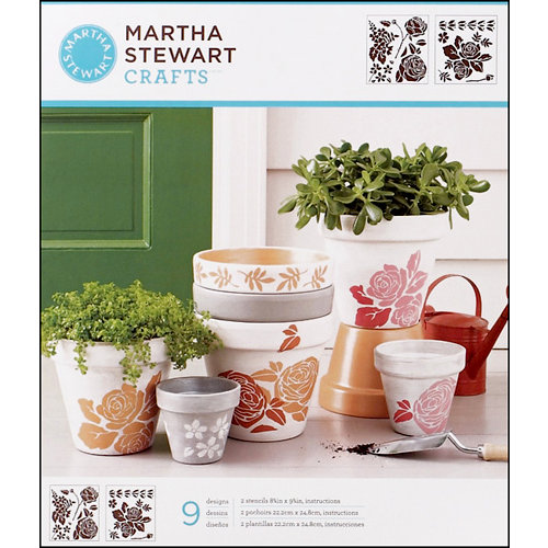 Martha Stewart Crafts - Stencil - Medium - Rose Garden