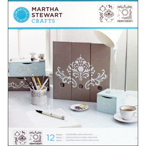 Martha Stewart Crafts - Stencil - Medium - Flourish