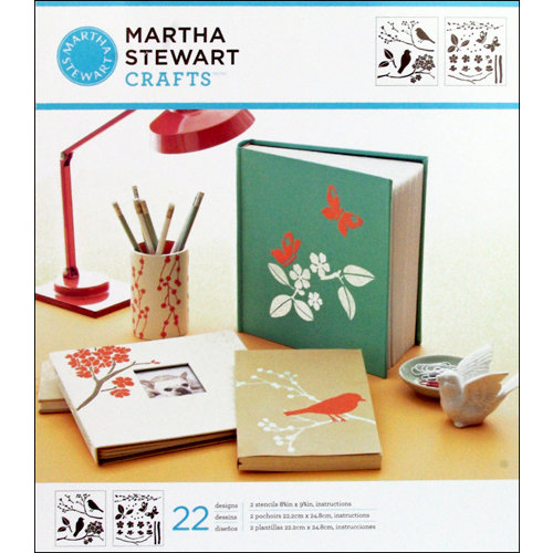 Martha Stewart Crafts - Stencil - Medium - Birds and Berries