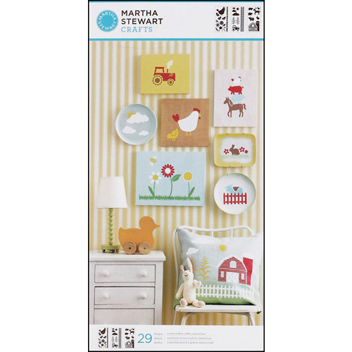 Martha Stewart Crafts - Stencil - Large - On the Farm