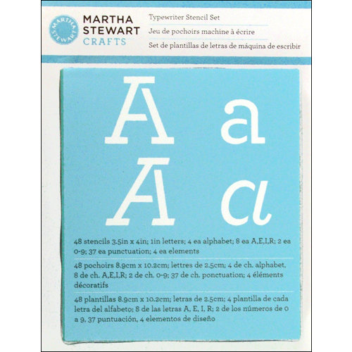 Martha Stewart Crafts - Alphabet Stencil - Typewriter