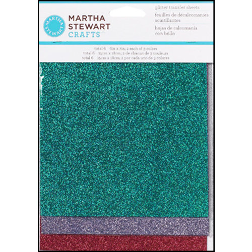 Martha Stewart Crafts - Glitter Transfer Sheets - Gemstone